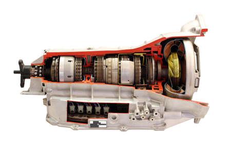 boîte de vitesses de voiture isolé sur blanc Banque d'images