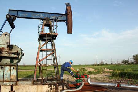 oil worker: trabajador de retenci�n de la bomba de aceite toma de tuber�a