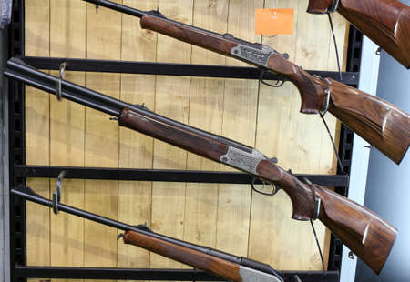 firearms: weapon store with shotguns and rifles