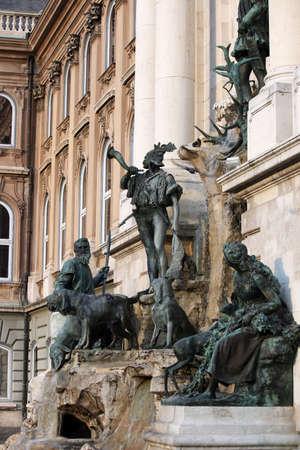 buda: Ch�teau de Buda Matthias fontaine Hongrie