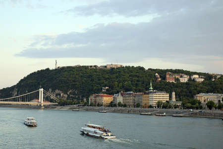 Gellert hill on Danube river Budapest cityscape photo