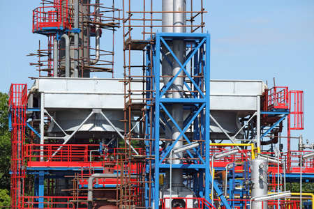 new factory construction site industry detail photo