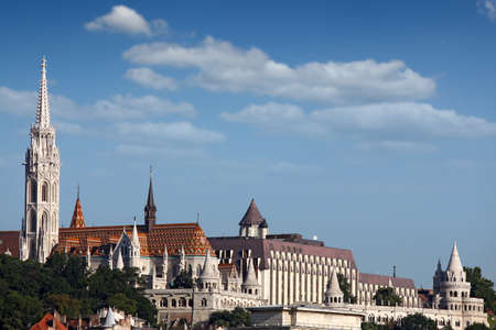 fisherman bastion: Fisherman bastion landmark Budapest cityscape Stock Photo