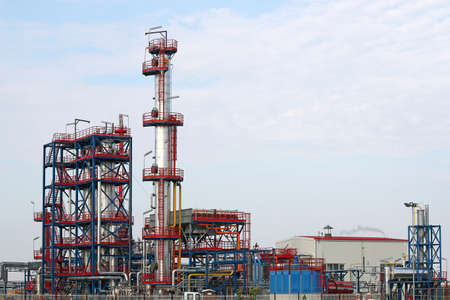 petrochemical plant oil industry Stock Photo