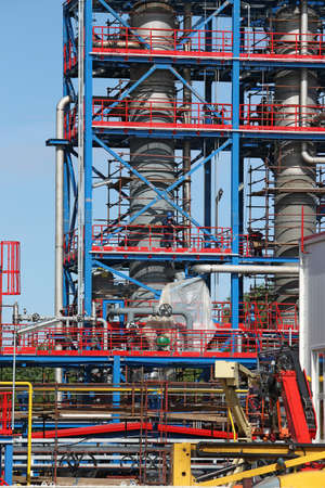 petrochemical: petrochemical plant construction site industry background