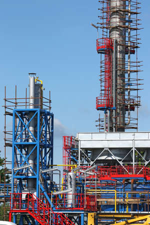 petrochemical: new petrochemical factory construction site Stock Photo