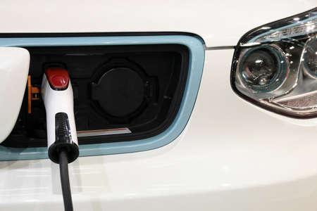 hybrid car: hybrid car is charging new technology Stock Photo