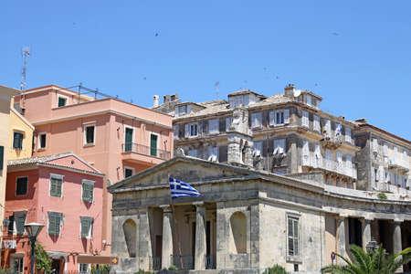corfu: Corfu town buildings Greece