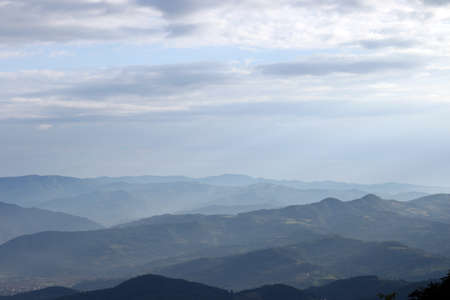serbia landscape: mountain landscape early morning west Serbia Stock Photo