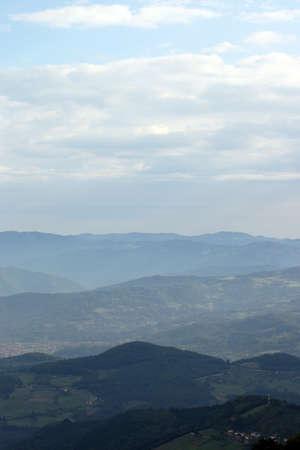 serbia landscape: Tara mountain landscape west Serbia Stock Photo