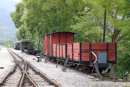 wagons: railway station with old wagons