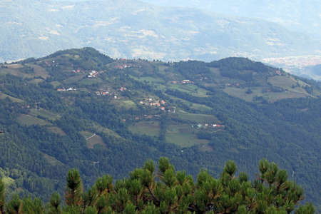 hill of tara: village on mountain rural landscape