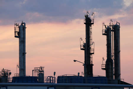 petrochemical: twilight over petrochemical plant