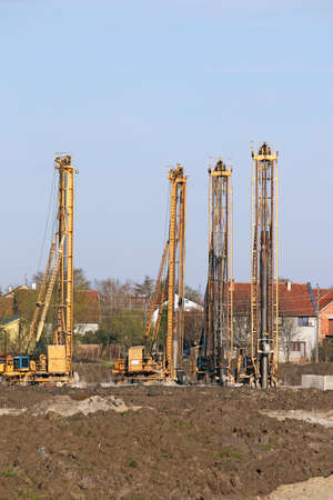 hydraulic drilling machines on construction site