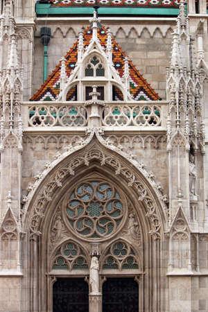 matthias: St.Matthias church detail Budapest Hungary