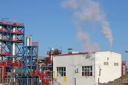 petrochemical: new petrochemical plant oil industry Stock Photo