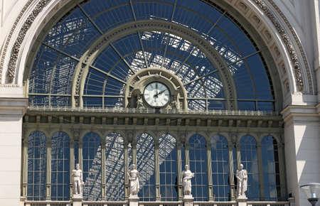 railroad station: Keleti railroad station clock Budapest Hungary
