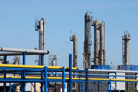 oil and gas industry: oil industry refinery petrochemical plant Stock Photo