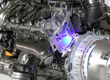 hybrid: powerful v6 car hybrid engine