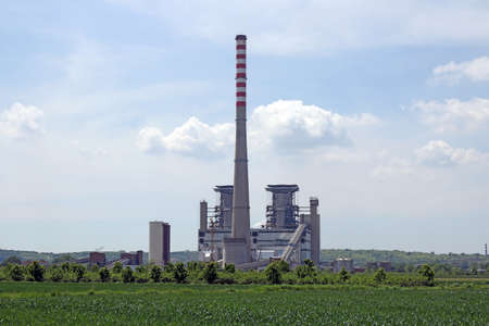 electrics: thermal power plant power and energy industry Stock Photo