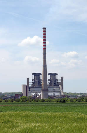 electrics: thermal power plant on field