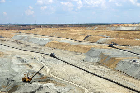 open pit: Open pit coal mine industry Stock Photo