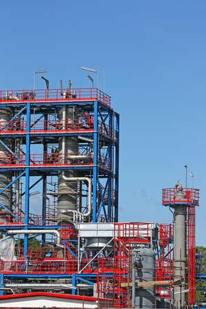 petrochemical plant: new petrochemical plant construction site