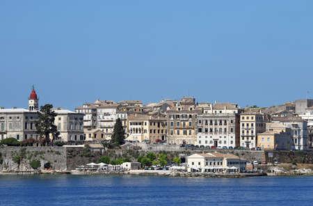 Corfu town cityscape Greece