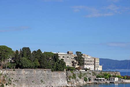 corfu: Corfu town Greece summer season