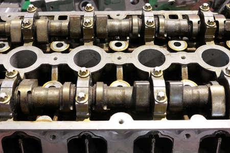 camshaft: car engine camshaft close up