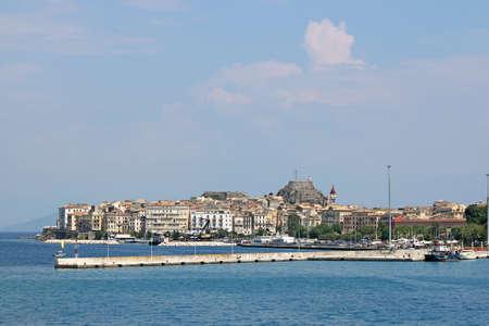 kerkyra: Corfu town Greece summer vacation