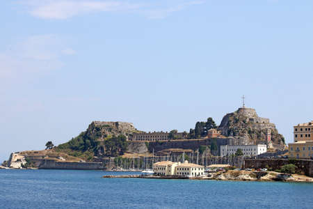 kerkyra: old fortress Corfu town cityscape