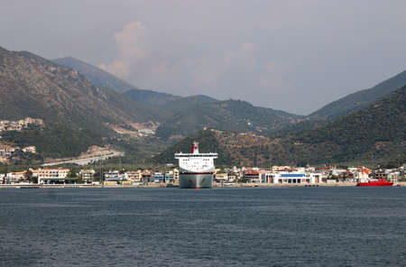 cruiser: Igoumenitsa port with cruiser Greece