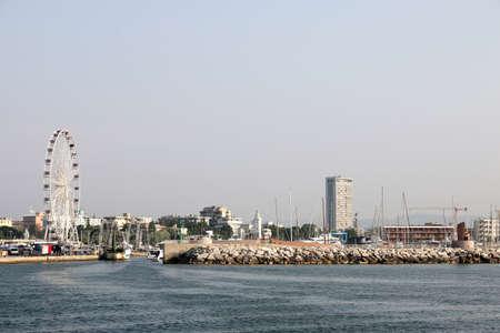 rimini: panoramic wheel and port Rimini cityscape