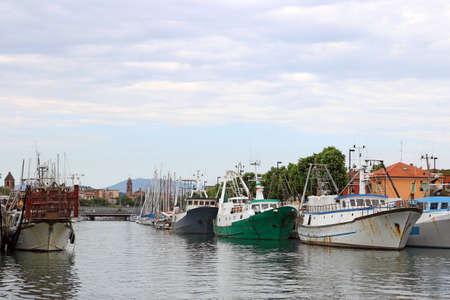 rimini: port with fishing boats Rimini Italy