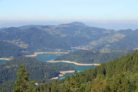 tara: Zaovine lake on Tara mountain landscape
