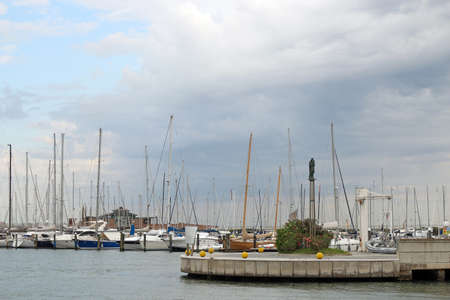 rimini: Yacht and sailboats Rimini port Italy Stock Photo