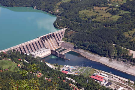 hydroelectric power plant Perucac on Drina  river