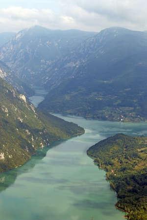 tara: Drina river Tara mountain landscape