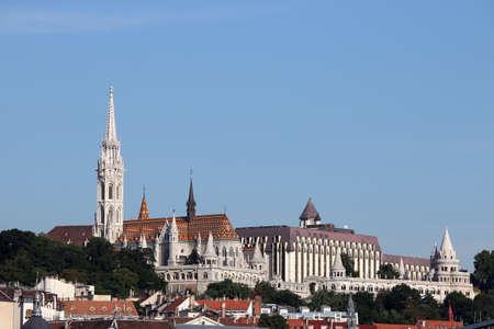 matthias: Matthias church and Fisherman towers Budapest cityscape Stock Photo