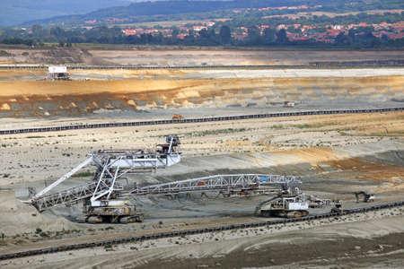 open pit coal mine mining industry