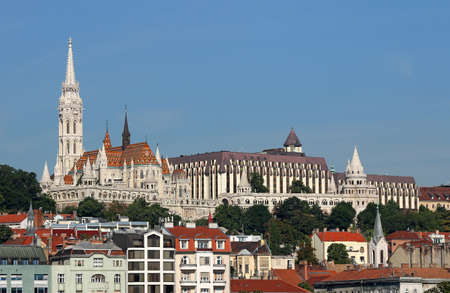 Fisherman towers and Matthias church Budapest Hungary