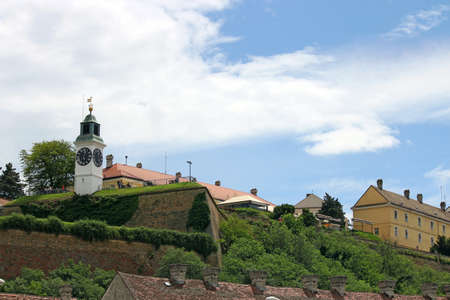 arhitecture: Tower clock Petrovaradin fortress Serbia Europe