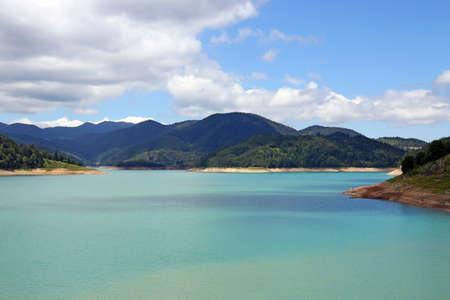 Zaovine lake on Tara mountain landscape summer season