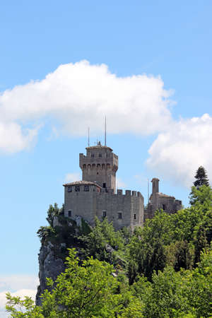 the Cesta or Fratta second tower San Marino Italy Stock Photo