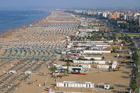 Rimini beach and city Italy summer season Stock Photo