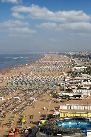 beach Rimini Adriatic sea summer season Italy Stock Photo