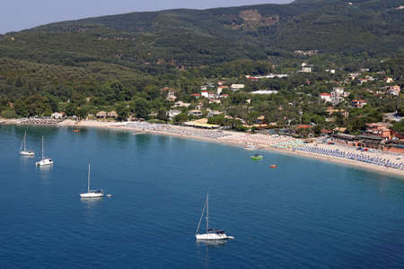 ionio: Valtos beach Parga Greece landscape summer season