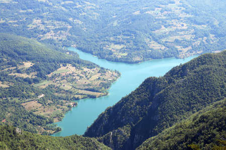 Biljeska stena viewpoint Tara mountain Serbia Stock Photo