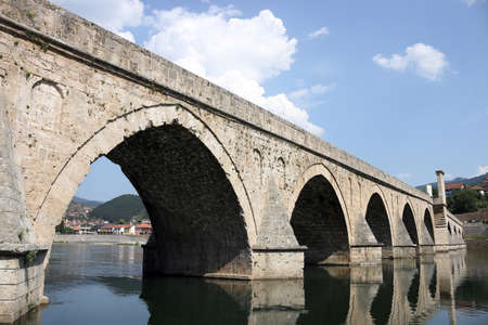 famous old stone bridge in Visegrad Bosnia